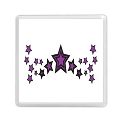 Star Purple Space Memory Card Reader (square)  by Mariart