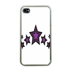 Star Purple Space Apple Iphone 4 Case (clear) by Mariart