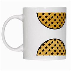 Star Circle Orange Round Polka White Mugs by Mariart