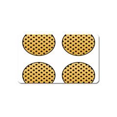 Star Circle Orange Round Polka Magnet (name Card) by Mariart