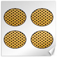 Star Circle Orange Round Polka Canvas 16  X 16   by Mariart