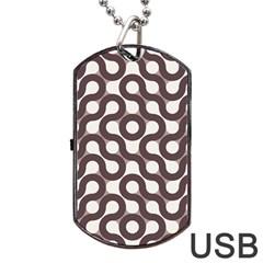 Seamless Geometric Circle Dog Tag Usb Flash (two Sides) by Mariart