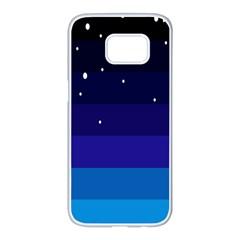 Stra Polkadot Polka Gender Flags Samsung Galaxy S7 Edge White Seamless Case by Mariart