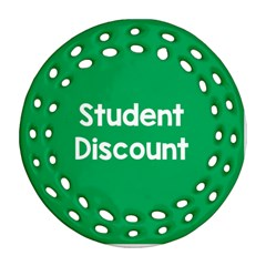 Student Discound Sale Green Ornament (round Filigree) by Mariart