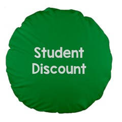 Student Discound Sale Green Large 18  Premium Flano Round Cushions by Mariart