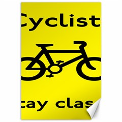 Stay Classy Bike Cyclists Sport Canvas 12  X 18   by Mariart