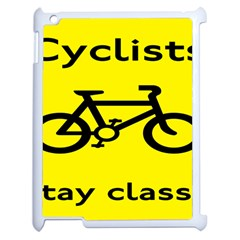 Stay Classy Bike Cyclists Sport Apple Ipad 2 Case (white) by Mariart