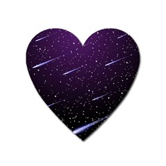 Starry Night Sky Meteor Stock Vectors Clipart Illustrations Heart Magnet by Mariart