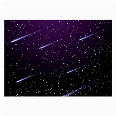 Starry Night Sky Meteor Stock Vectors Clipart Illustrations Large Glasses Cloth (2 Side) by Mariart