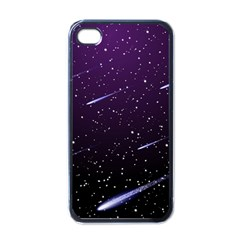 Starry Night Sky Meteor Stock Vectors Clipart Illustrations Apple Iphone 4 Case (black) by Mariart