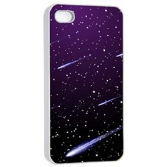 Starry Night Sky Meteor Stock Vectors Clipart Illustrations Apple Iphone 4/4s Seamless Case (white) by Mariart