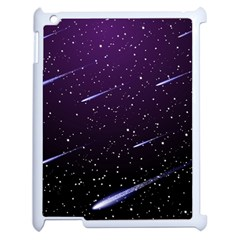 Starry Night Sky Meteor Stock Vectors Clipart Illustrations Apple Ipad 2 Case (white) by Mariart