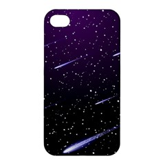 Starry Night Sky Meteor Stock Vectors Clipart Illustrations Apple Iphone 4/4s Premium Hardshell Case by Mariart