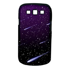 Starry Night Sky Meteor Stock Vectors Clipart Illustrations Samsung Galaxy S Iii Classic Hardshell Case (pc+silicone) by Mariart