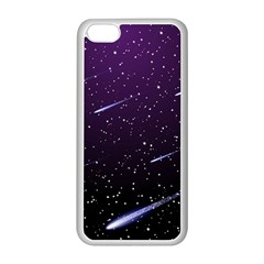 Starry Night Sky Meteor Stock Vectors Clipart Illustrations Apple Iphone 5c Seamless Case (white) by Mariart