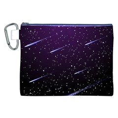 Starry Night Sky Meteor Stock Vectors Clipart Illustrations Canvas Cosmetic Bag (XXL) by Mariart