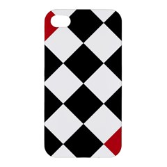 Survace Floor Plaid Bleck Red White Apple Iphone 4/4s Hardshell Case by Mariart