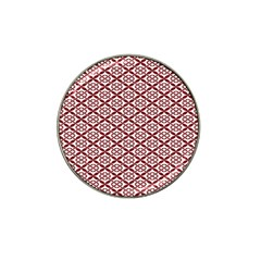 Pattern Kawung Star Line Plaid Flower Floral Red Hat Clip Ball Marker (4 Pack) by Mariart