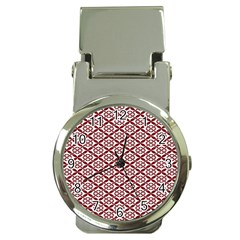 Pattern Kawung Star Line Plaid Flower Floral Red Money Clip Watches by Mariart
