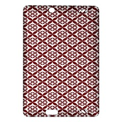 Pattern Kawung Star Line Plaid Flower Floral Red Amazon Kindle Fire Hd (2013) Hardshell Case by Mariart