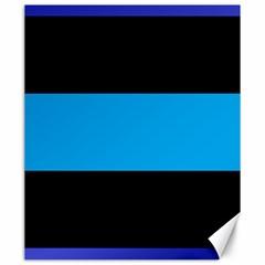 Tomboy Playboy Flag Blue Black Mline Canvas 20  X 24   by Mariart