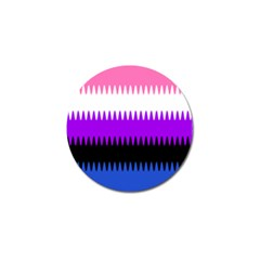 Sychnogender Techno Genderfluid Flags Wave Waves Chevron Golf Ball Marker (10 Pack) by Mariart