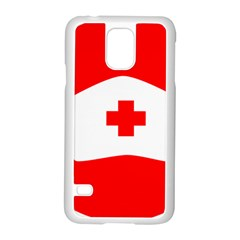 Tabla Laboral Sign Red White Samsung Galaxy S5 Case (white) by Mariart
