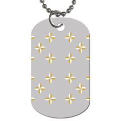 Syrface Flower Floral Gold White Space Star Dog Tag (two Sides) by Mariart