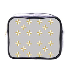 Syrface Flower Floral Gold White Space Star Mini Toiletries Bags by Mariart