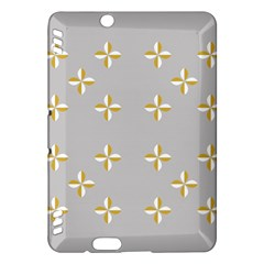 Syrface Flower Floral Gold White Space Star Kindle Fire Hdx Hardshell Case by Mariart