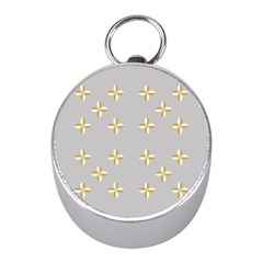 Syrface Flower Floral Gold White Space Star Mini Silver Compasses by Mariart