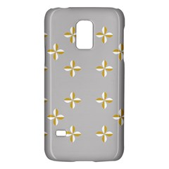 Syrface Flower Floral Gold White Space Star Galaxy S5 Mini by Mariart