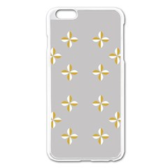 Syrface Flower Floral Gold White Space Star Apple Iphone 6 Plus/6s Plus Enamel White Case by Mariart