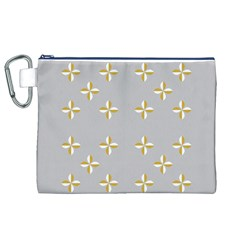 Syrface Flower Floral Gold White Space Star Canvas Cosmetic Bag (xl) by Mariart