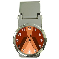 Volcano Lava Gender Magma Flags Line Brown Money Clip Watches by Mariart