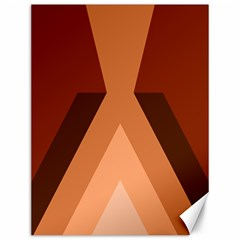 Volcano Lava Gender Magma Flags Line Brown Canvas 12  X 16   by Mariart