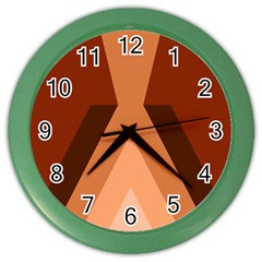 Volcano Lava Gender Magma Flags Line Brown Color Wall Clocks by Mariart