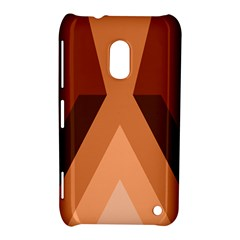 Volcano Lava Gender Magma Flags Line Brown Nokia Lumia 620 by Mariart