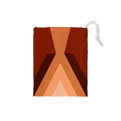 Volcano Lava Gender Magma Flags Line Brown Drawstring Pouches (small)  by Mariart
