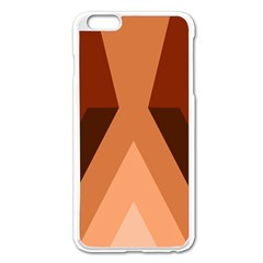 Volcano Lava Gender Magma Flags Line Brown Apple Iphone 6 Plus/6s Plus Enamel White Case by Mariart