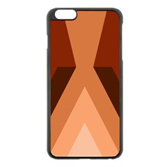 Volcano Lava Gender Magma Flags Line Brown Apple Iphone 6 Plus/6s Plus Black Enamel Case by Mariart