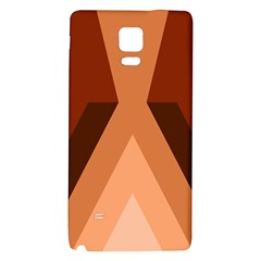 Volcano Lava Gender Magma Flags Line Brown Galaxy Note 4 Back Case by Mariart