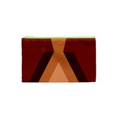 Volcano Lava Gender Magma Flags Line Brown Cosmetic Bag (xs) by Mariart