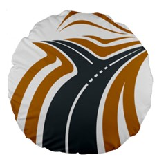 Transparent All Road Tours Bus Charter Street Large 18  Premium Round Cushions by Mariart