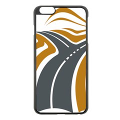 Transparent All Road Tours Bus Charter Street Apple Iphone 6 Plus/6s Plus Black Enamel Case by Mariart