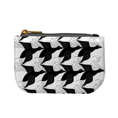 Swan Black Animals Fly Mini Coin Purses by Mariart