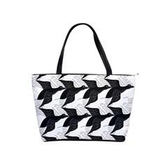 Swan Black Animals Fly Shoulder Handbags by Mariart
