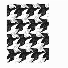 Swan Black Animals Fly Large Garden Flag (two Sides) by Mariart