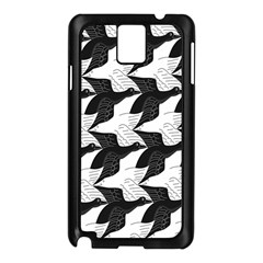 Swan Black Animals Fly Samsung Galaxy Note 3 N9005 Case (black) by Mariart