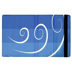 Ventigender Flags Wave Waves Chevron Leaf Blue White Apple Ipad 3/4 Flip Case by Mariart